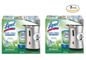 Lysol Healthy Touch Hand Soap, Starter Kit Stainless, Aloe