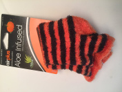 Airplus Aloe Infused Ultra Moisturising Socks Halloween Orange Black