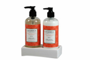 Caldrea Hand Soap and Lotion Sink Set in Ceramic Tray