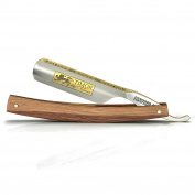 Timor Straight Razor, Carbon Steel Blade 1.9cm , Marble-wood handle