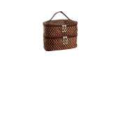 Double Layered Cosmetic Brown Bag