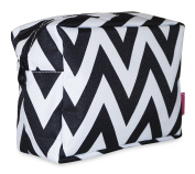 Ever Moda Black Chevron Cosmetic Pouch