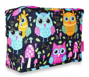 Ever Moda Neon Owls Cosmetic Pouch