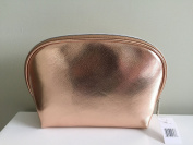 Nordstrom Large Metallic Cosmetic Bag - Rose Gold