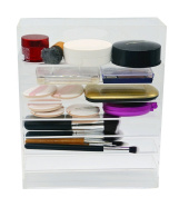 FLYMEI Clear Acrylic Palette Organiser Beauty Product Storage Display Case
