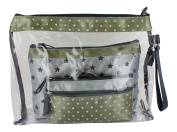 """Cosmetic Bags sets, 3 various French vintage designs """"Paris Star"""" with Eiffel Tower"""