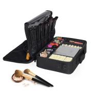 Portable Makeup Train Case, OGIMA Waterproof Cosmetic Organiser Kit Make Up Artist Storage for Cosmetics