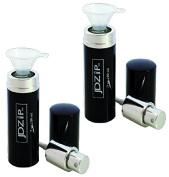 LollyZip Men's Fine Mist Spray Empty Travel Bottle and Funnel, TSA Compliant, Set of 2