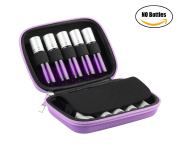 BeeChamp Hard Shell EVA Carrying Case for 10pcs 5ml 10ml Essential Oil Roller Bottles