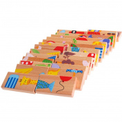 BCHZ 28X Wooden Animal Dominoes Toy