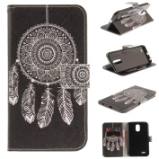 Leather Kickstand Case for LG Stylo 3(2017) with [Tempered Glass Screen Protector], Anti Scratch Flip Wallet Case, Magnetic Folio Case Cover for LG Stylo 3/Stylus 3/LS777-Dream Catcher