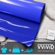 VViViD HTV Blue 30cm x 0.9m (90cm ) Heavy-Duty Iron-on Heat Transfer vinyl film