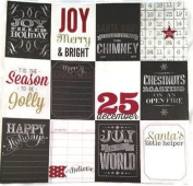 Christmas Chalk Quotes Pocket Pages 12x12 Scrapbook Paper - 4 Sheets