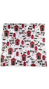 Dog Houses and Hydrants 12x12 Scrapbook Paper - 4 Sheets
