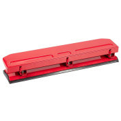 Three Hole Punch - 3 Hole Punches - Three Ring Hole Punch, Red