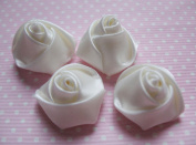 YYCRAFT Pack Of 50 Satin 4d Rose 2.2cm Craft Wedding Bride-ivory