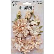 Shimmer & Shine Flowers 3.8cm - 5.1cm 11/Pkg-Amber Fleur Des Champs
