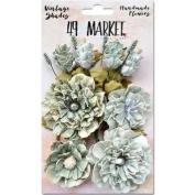 Vintage Shades Bouquet Assorted Sizes 14/Pkg-Sage