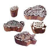 Popular Shapes Scorpio and Aquatic Wood Block Print Stamps