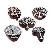 Retro Designs Tree and Assorted Wooden Block Stamps