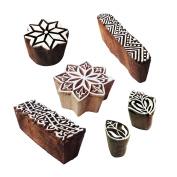 Popular Designs Floral and Finger Wood Print Stamps
