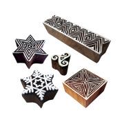 Rural Designs Snowflake and Star Wooden Printing Blocks
