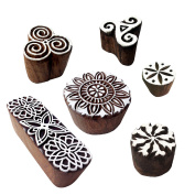 Classy Pattern Floral and Round Wood Block Stamps