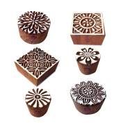 Exquisite Shapes Round and Square Wooden Stamps for Printing