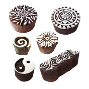Innovative Designs Round and Border Wooden Block Stamps