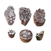 Creative Pattern Paisley and Floral Wooden Blocks for Printing