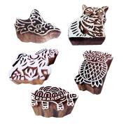 Fancy Pattern Animal and Bird Wood Print Blocks