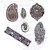 Exclusive Motif Floral and Paisley Block Print Wood Stamps