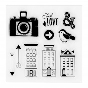 Buildings Transparent Clear Silicone Stamp/seal for DIY Scrapbooking/photo Album Decorative Clear Stamp Sheets