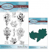 Prickley Pear Oak and Maple Leaf Set # 2 Clear Stamp and Die Set - CLR018A PPRS-D018 - Bundle 2 Items