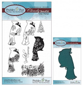Prickley Pear Cardinals Clear Stamp and Die Set # 2 - CLR005A & PPRS-D005 - Bundle 2 Items