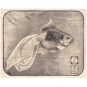 Goldfish Block Rubber Stamp