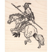 Indian Warrior Rubber Stamp American Indian