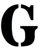 5x7 Large Letter Stencil from 4 Ply Mat Board-Stardos Font-Letter G