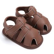 Puseky Infant Newborn Baby Boys Girls First Walking Shoes Prewalkers Leather Sandals
