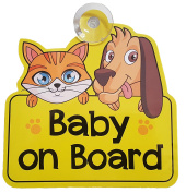 Baby on Board car sign for car window - Great gift / present for new baby, girl, boy, kid, child, sticker, decal, vinyl