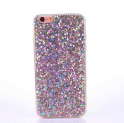 iPhone 7 Case [With Free Tempered Glass Screen Protector],Mo-Beauty® Luxury Bling Shiny Sparkle Glitter Crystal [Slim Fit] Shockproof Shining Fashion Style Soft Flexible TPU Silicone Gel Protective Shell Case Cover For Apple iPhone 7