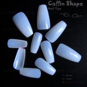 Coffin Shape False Nail Tips Full Cover Ballerina Nail Tips 100pcs (Natural)