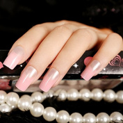 Pink Fake Nail Long Full Cover False Nail Nail Art