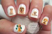 Golden Retriever Nail Art Decals