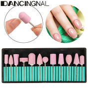 Nail Drill Bit Set,DANCINGNAIL Nail Art Bit Tools for Acrylic Manicure Electric Machine Carver