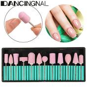 Nail Drill Bit Set,DANCINGNAIL Nail Art Bit Tools for Acrylic Manicure Electric Machine Carver