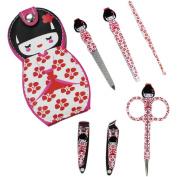 Nail Clipper Set in Japanese Kokeshi Doll Case