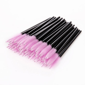 Makartt Disposable Eyelash Mascara Brushes Wands Applicator Eyebrow Brush Makeup Kit 50pcs Pink