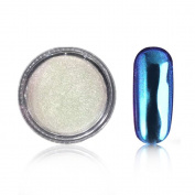 Sindy Mirror Effect Nail Power Shinning Manicure Polish Glitter Powder Chrome Pigment 1g/Box Blue