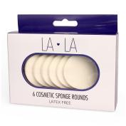 LA LA 6 Cosmetic Sponge Rounds